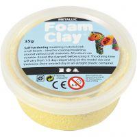Foam Clay® , metallico, giallo, 35 g/ 1 vasch.