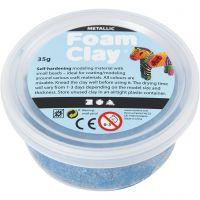 Foam Clay® , metallico, blu, 35 g/ 1 vasch.