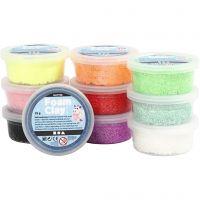 Foam Clay® , glitter, colori asst., 10x35 g/ 1 conf.