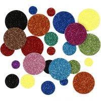 Cerchi di EVA foam, diam: 12+20+32 mm, 150 asst./ 1 conf.