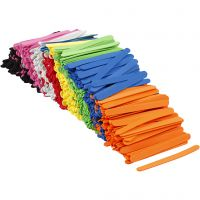 Bastoncini per ghiacciolo in schiuma EVA, L: 11,5 cm, L: 1 cm, spess. 2 mm, colori asst., 1000 pz/ 1 conf.