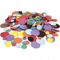 Cerchi di EVA foam, diam: 12+20+32 mm, colori asst., 2120 asst./ 1 conf.