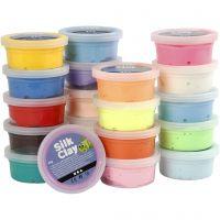 Silk Clay®, colori asst., 20x40 g/ 1 conf.