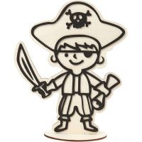 Figura decorativa, pirata, H: 19 cm, 1 pz