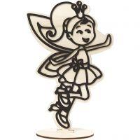 Figura decorativa, fatina, H: 21 cm, 1 pz