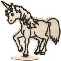 Figura decorativa, unicorno, H: 19 cm, 1 pz
