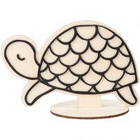 Figura decorativa, tartaruga, H: 10 cm, 1 pz