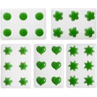 Stampi per candele galleggianti, fiore, cuore, sole, stella, rotondo, 1 set