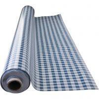 Tovaglia di tela cerata, Assegni blu, misura 140 cm, 1 risma
