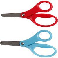 Forbici per bambini, L: 13 cm, destrimani, blu, rosso, 12 pz/ 1 conf.