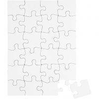 Puzzle, misura 15x21 cm, bianco, 16 pz/ 1 conf.