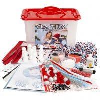 Materiale creativo e scatola a scomparti, misura 34x24x20 cm, 1 pz
