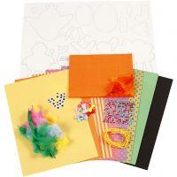 Kit decori pasquali fai-da-te, colori forti, 1 set