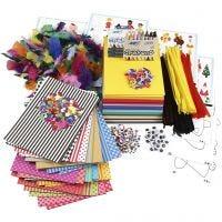 Pacco creativo grande di materiali e modelli, colori asst., 1 set