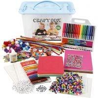 Materiale creativo e scatola a scomparti, colori asst., 1 pz