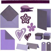 Happy Moments - kit per realizzare biglietti, colori asst., 160 pezzo/ 1 conf.