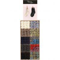 Lana per calze, colori asst., 120 gom./ 1 conf.
