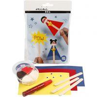 Mini kit creativo, Figura da un bastoncino del ghiacciolo, 1 set