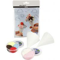 Mini kit creativo, coni di cartoncino, 1 set