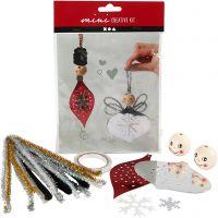 Mini kit creativo, figure fustellate per realizzare decorazioni pendenti, 1 set