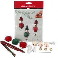 Mini kit creativo, Decoro pendente a forma di elfo natalizio, 1 set