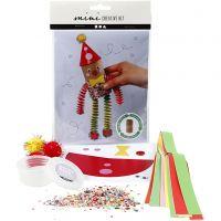 Mini kit creativi, Pagliaccio con rotolo di carta igienica, 1 set