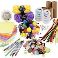 Kit – Figure realizzate con tubi di cartone, colori vivaci, 1 set
