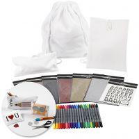 Kit – Decorare i tessuti per il ritorno a scuola, 1 set