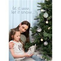 Poster d'ispirazione, Winter Christmas, misura 21x30+29,7x42+50x70 cm, 4 pz/ 1 conf.