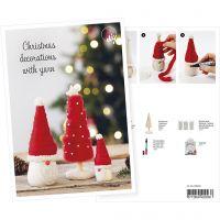 Cartolina, Un elfo e un albero di Natale di lana, A5, 14,8x21 cm, 1 pz