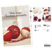 Cartolina, Palline di Natale con mini perle di vetro, A5, 14,8x21 cm, 1 pz