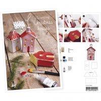 Cartolina, Case decorate con glitter, A5, 14,8x21 cm, 1 pz