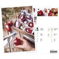 Cartolina, Palline di Natale con colori metallizzati e foil decorativo, A5, 14,8x21 cm, 1 pz