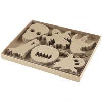 Decorazioni di Halloween, misura 7-10 cm, 6x10 pz/ 1 conf.