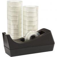 Nastro adesivo con dispenser, L: 15 mm, 1 set