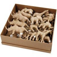Animali della savana, H: 7,5-10 cm, 32 pz/ 1 conf.