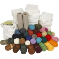 Kit needle felting - pacco scuola, colori asst., 1 set