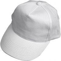 Cappellino, misura 49,5-56 cm, bianco, 1 pz