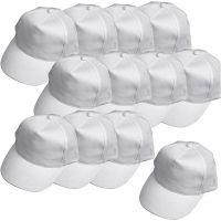Cappellino, misura 49,5-56 cm, bianco, 12 pz/ 1 conf.