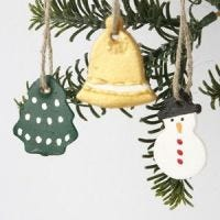 Small Clay Decorations for Hanging
