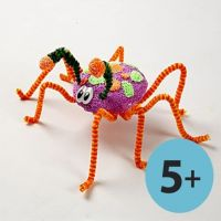 Large Insects with Foam Clay