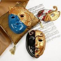 Maschere Rococò con Art Metal oro
