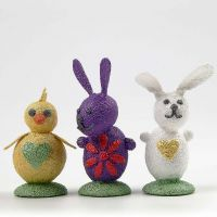 Easter Decorations made from Metallic Foam Clay