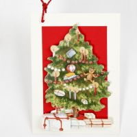 A 3D Greeting Card with a Christmas Tree