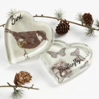 A Glass Heart with Decoupage