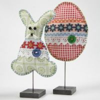 Easter Decorations made from Patterned Felt