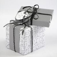 "Gift Wrapping using Vivi Gade ""Paris"" Design Wrapping Paper"