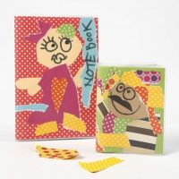 A New Notebook with Color Bar Card Collage