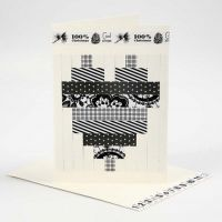 A Greeting Card with a woven Design from Vivi Gade Design Paper