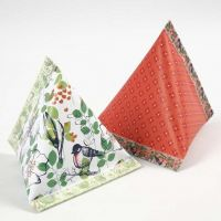 A Pyramid-shaped Gift Box from Design Paper